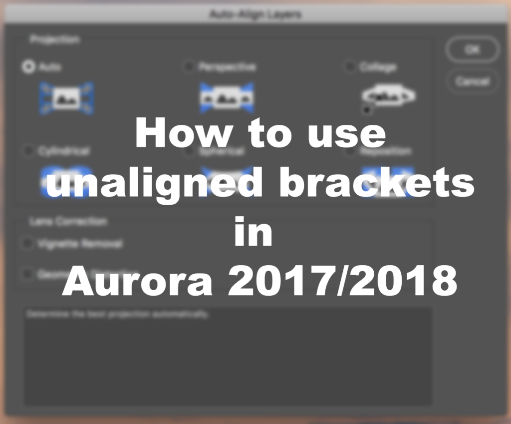 How To Use Unaligned Brackets In Aurora 2018